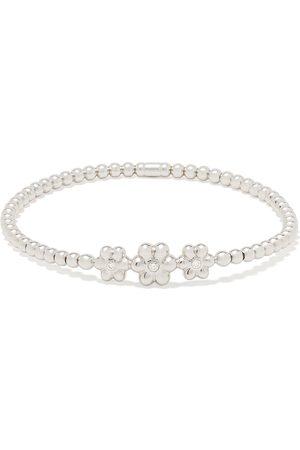 MONAN 18kt diamond floral detail bracelet