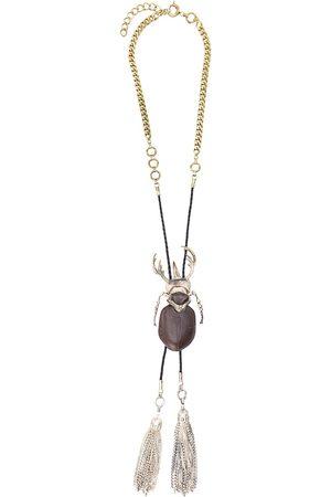 Gianfranco Ferré 1990s beetle charm necklace