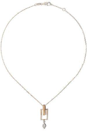 Yeprem 18kt and rose diamond pendant necklace