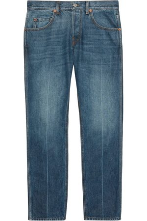 Gucci Straight-leg cropped jeans