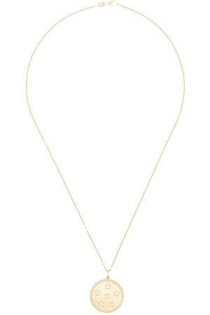 Andrea Fohrman 14kt good Full Moon diamond star necklace