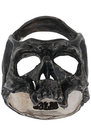 13 LUCKY MONKEY Hammered skull ring