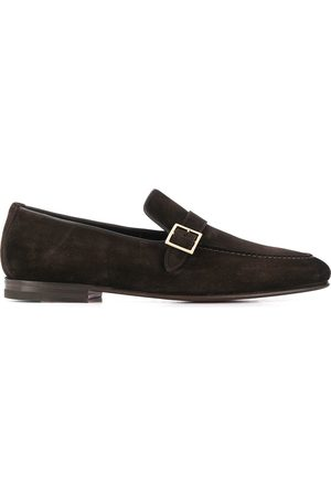 santoni Buckle detail loafers