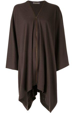 Issey Miyake Women Jackets - Zip-up poncho
