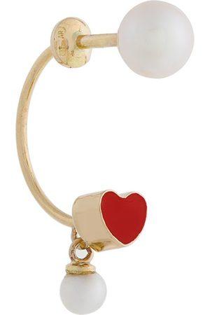 DELFINA DELETTREZ 18kt gold Heart Piercing earring - Metallic