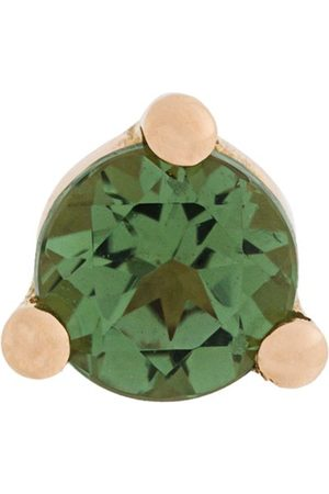 DELFINA DELETTREZ 18kt gold Dots Solitaire tourmaline and pearl earring
