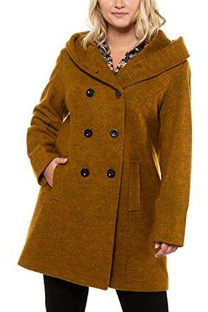 Ulla Popken Women's Mantel, Wolloptik, Revers, Langarm Coat