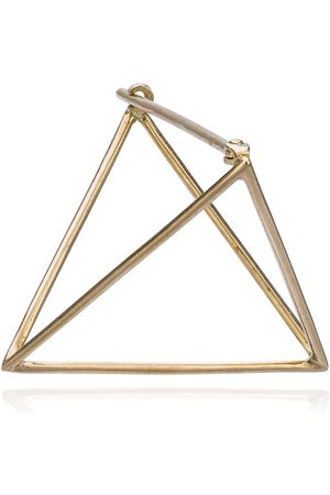 SHIHARA 25mm triangle earring - Metallic