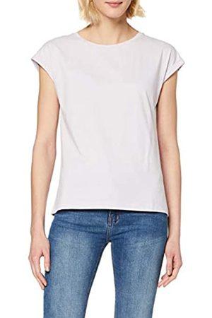 Dorothy Perkins Women's Lilac Roll Sleeve Organic Tee T-Shirt