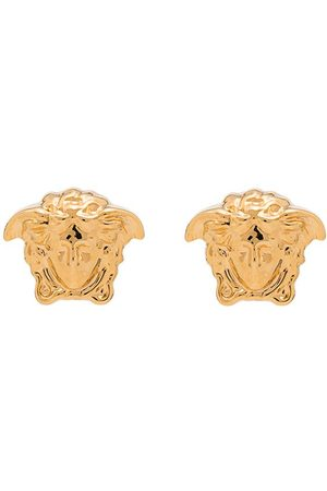 VERSACE Metallic medusa stud earrings