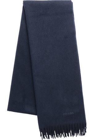 Prada Fringed logo scarf