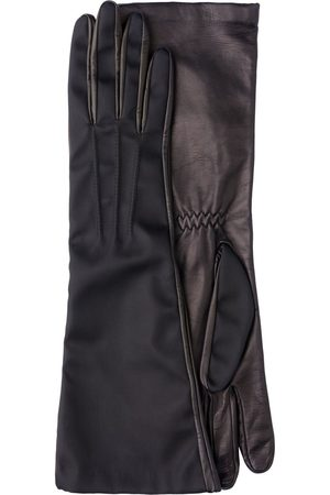 Prada Long nylon and leather gloves