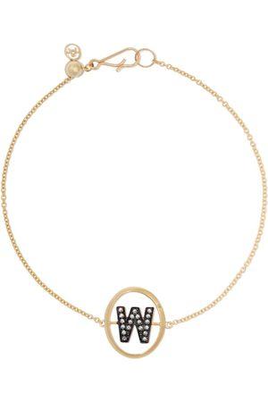 ANNOUSHKA 18kt diamond initial W bracelet - 18ct