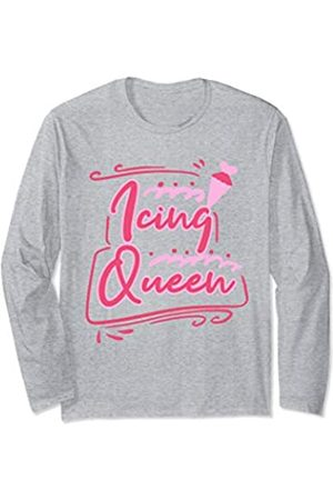 Cookie Baking Tees by K Icing Queen Baking Cookie Christmas Cookie Funny Gift Women Long Sleeve T-Shirt