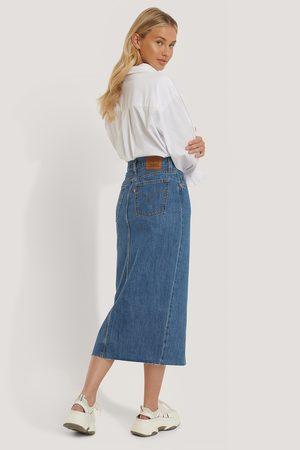 Levi's Levi's Button Front Midi Skirt - Blue