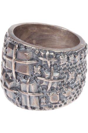 TOBIAS WISTISEN Men Rings - Engraved ring - Metallic