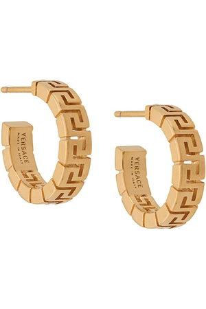 Versace Greca Horseshoe Hoop Earrings