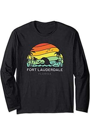 Florida Key Tees Fort Lauderdale Florida Retro Beach Summer West Women Men Long Sleeve T-Shirt