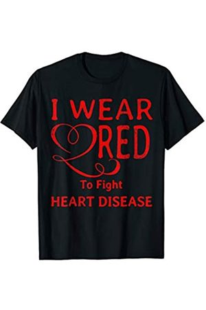 Go Red Health Awareness Day Shirts I wear red to fight heart disease T-Shirt