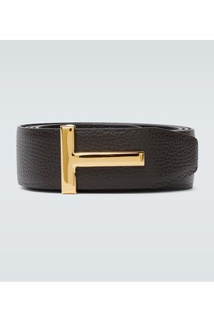 Tom Ford Men Belts - Reversible T leather belt
