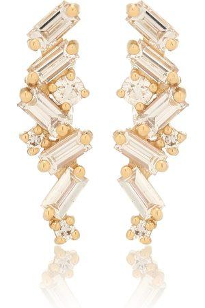 Suzanne Kalan Fireworks 18kt earrings with diamonds
