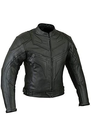 Speed MaxX Batman Style Mens Smart Fit Motorcycle Motorbike Premium Quality Leather Jacket (6XL)