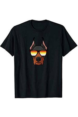 Paw Lovers by Mezziteez Gay Doberman with Sunglasses - Cute Gay Pride Dog T-Shirt