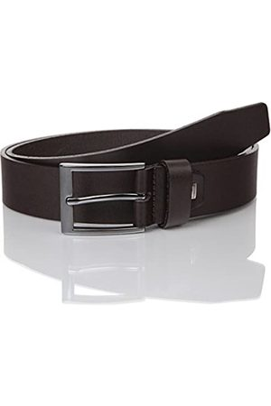 Lindenmann Mens leather belt/Mens belt, business belt, full grain leather belt, dark , Größe/Size:105