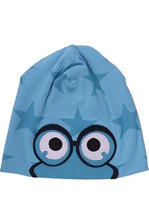 Green Cotton Baby Boys' Star peep Beanie Hat, Turquoise-Türkis (Aqua 016453000)