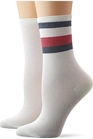 Tommy Hilfiger Women's Th Sock 2p Collegiate Mesh Calf
