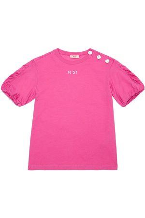 Nº21 Embellished Cotton Jersey T-shirt