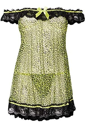 Dreamgirl Women's Off The Shoulder Chemise with Ruffled lace Neckline Negligee