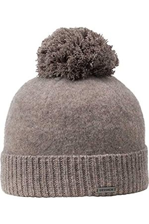 Giesswein Wool Beanie Sonneneck Vole ONE - Unisex Beanie 100% Lambswool, Lambswool Beanie, Warm Winter hat with Bobble Made of Wool, hat with Warm Fleece Lining