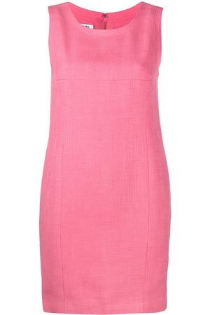CHANEL 2000s textured sleeveless mini dress