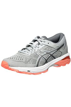 Asics Women's GT-1000 6 Running Shoes, (Mid /Carbon/Flash Coral)
