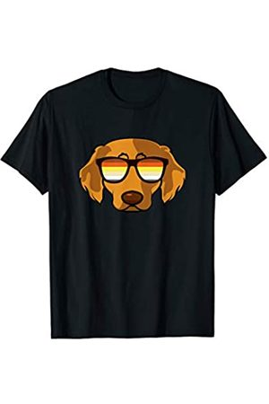 Paw Lovers 4 by Mezziteez Gay Golden Retriever with Sunglasses - Cute Gay Pride Dog T-Shirt