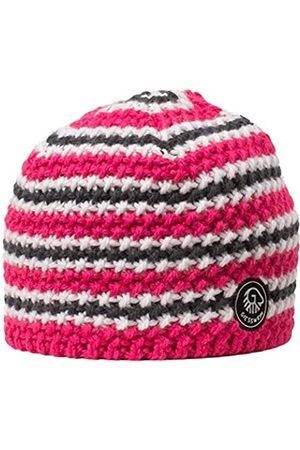 Giesswein Beanie Hahnenkopf Raspberry ONE - Winter hat in Merino Wool, Unisex Sports Beanie, Warm Fleece Lining