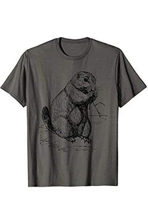 Ground Squirrel Looks Like Animal Art Drawing Prairie Dog T-Shirt