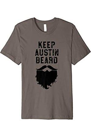 Robot Basecamp Keep Austin Beard - Funny Hipster Ironic Shirt - Texas