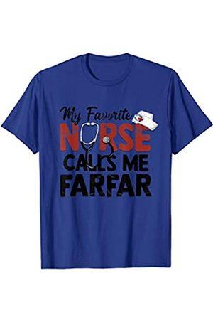 Grandpa gift tshirt My Favorite Nurse Calls Me Farfar Gift T-Shirt