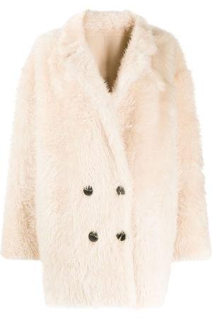 LISKA Double-breasted coat - Neutrals