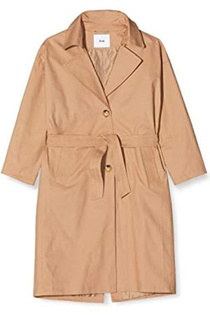FIND Amazon Brand - Women's Trench Coat with Waist Tie and Cape Back, 10