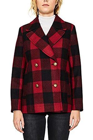 Esprit Women's 097ee1g031 Checkered Trenchcoat Long Sleeve Coat