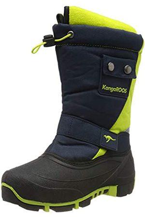 KangaROOS Unisex Kids' Kanga-Bean Ii Snow Boots, (Dk Navy/Lime 4054)