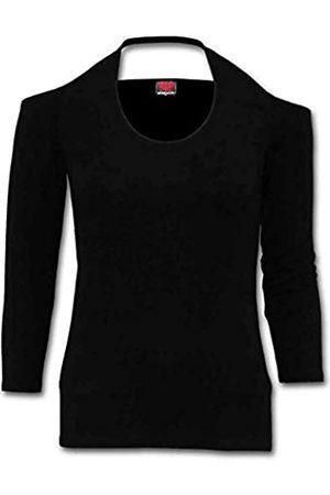 Spiral Women's Gothic Rock-Scoop Halter-Neck Long Sleeve Top