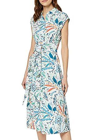 FIND Amazon Brand - Women's Midi Floral Shirt Dress, 18