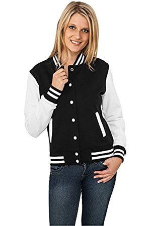 Urban classics Women's Ladies 2-tone College Sweatjacket Varsity Long Sleeve Sweat Jacket