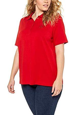 Ulla Popken Women's Große Größen Poloshirt Mit Stickerei in Pima Cotton, Classic T-Shirt