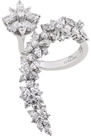 Yeprem Gold and Diamond Y-Not Wreath Ring