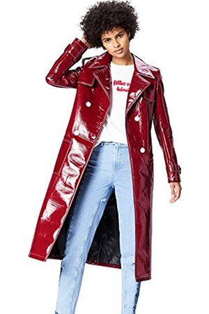FIND Amazon Brand - Women's Patent Trench Coat, 8